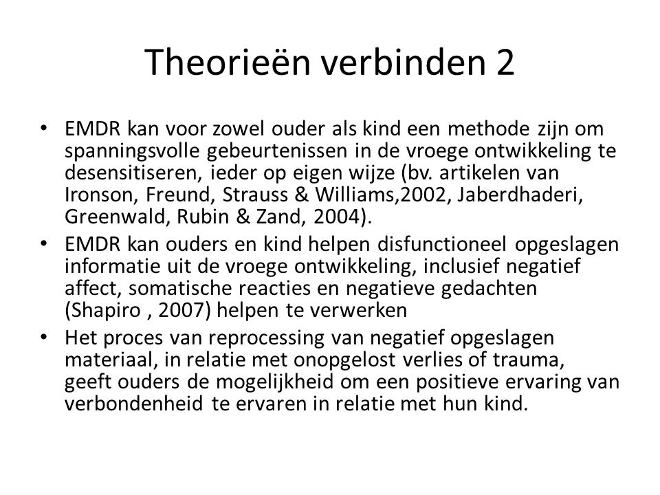 Theorieën verbinden 2