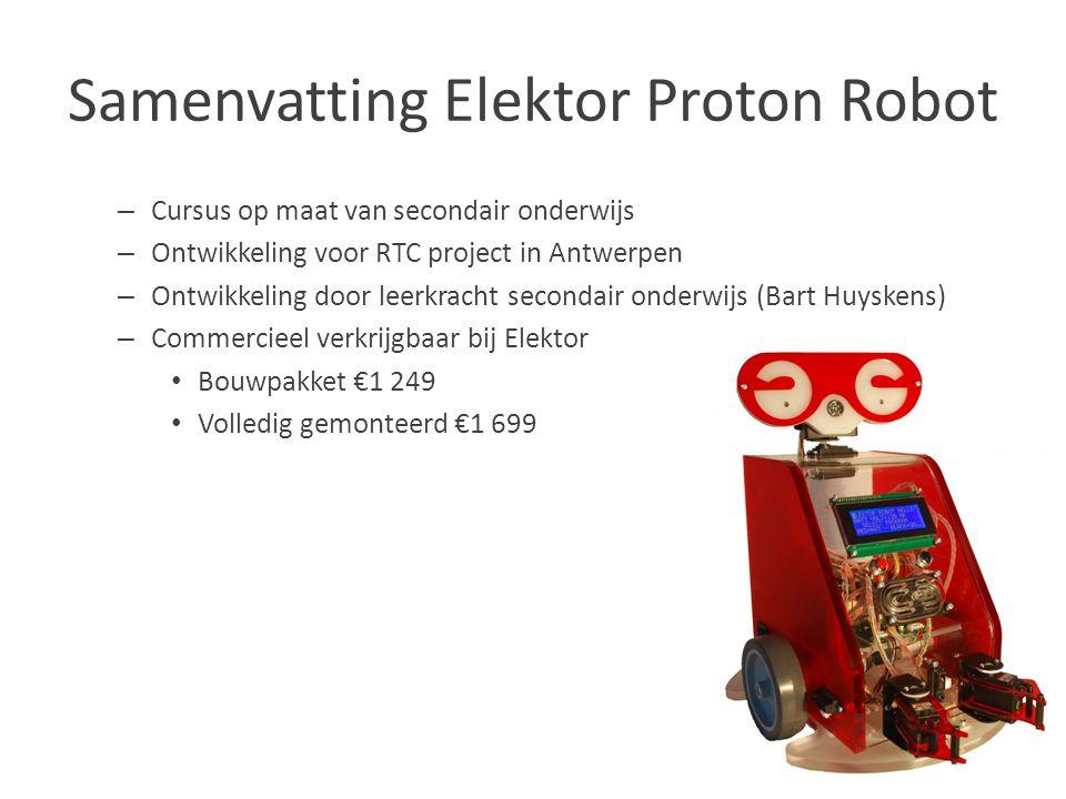 Samenvatting Elektor Proton Robot