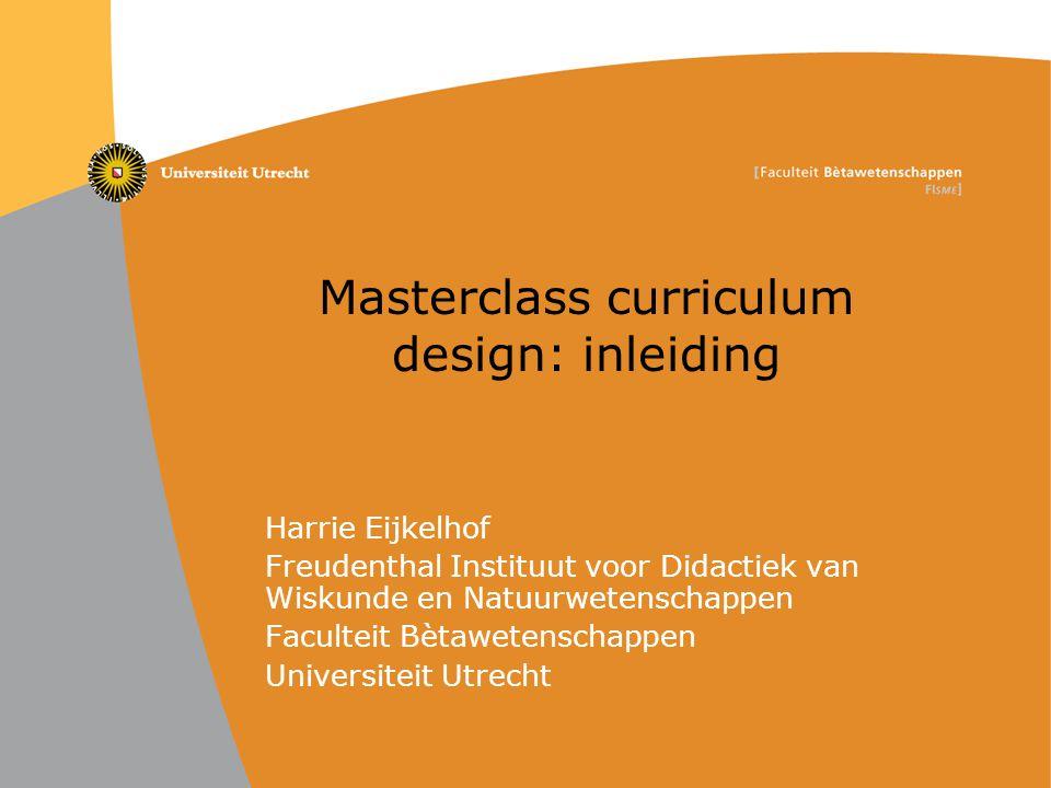 Masterclass curriculum design: inleiding