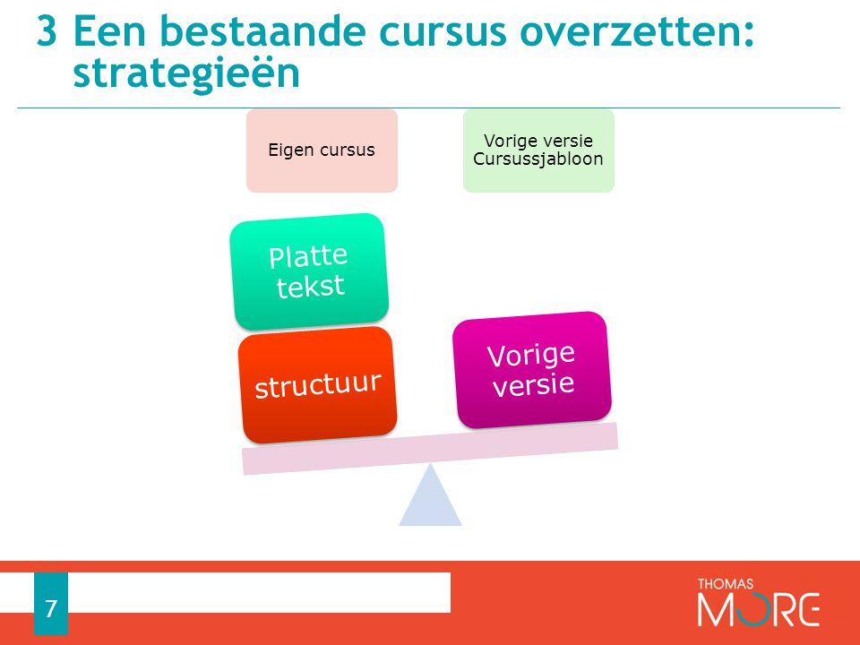 3 Een bestaande cursus overzetten: strategieën