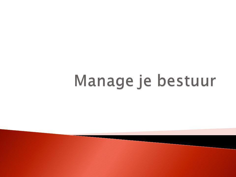 Manage je bestuur
