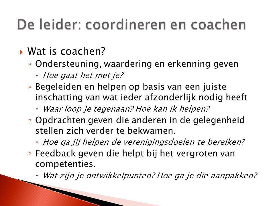 De leider: coordineren en coachen
