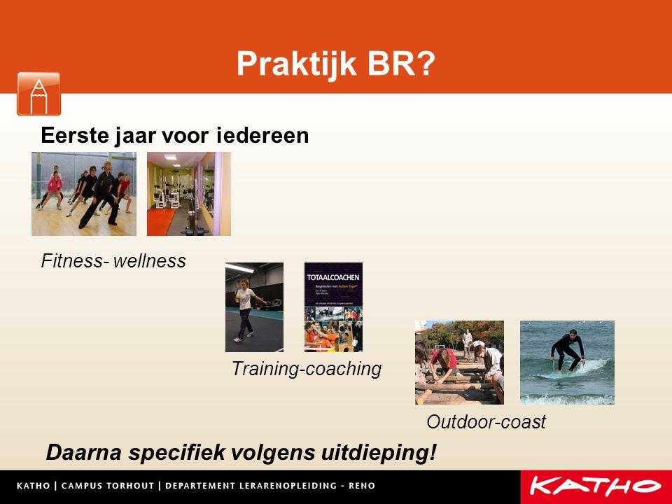 Praktijk BR Eerste jaar voor iedereen Fitness- wellness
