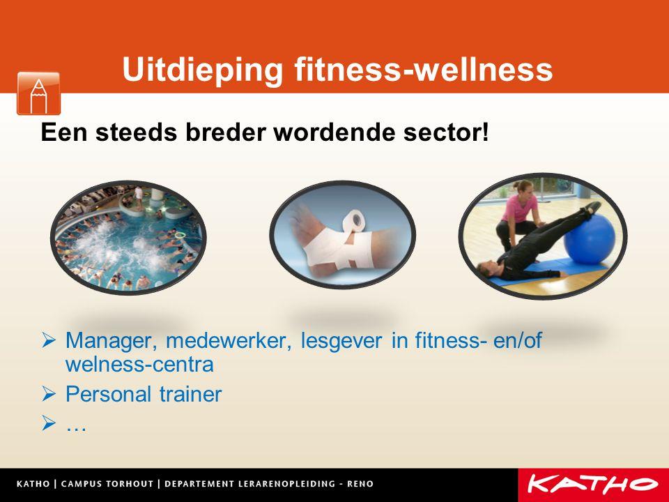 Uitdieping fitness-wellness