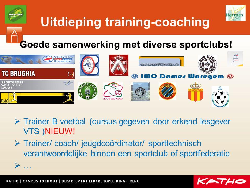 Uitdieping training-coaching