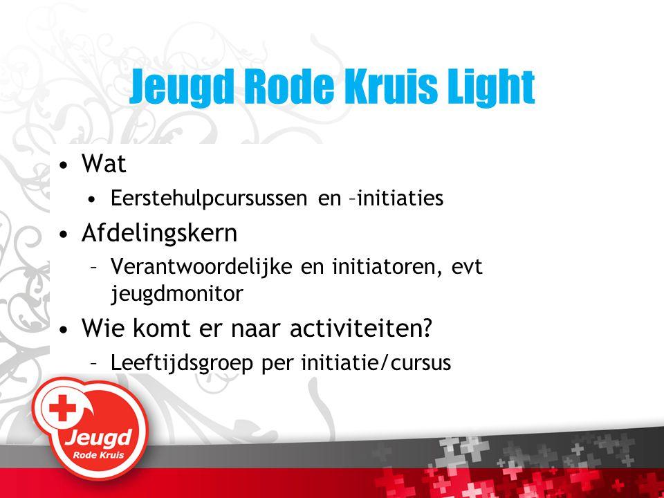 Jeugd Rode Kruis Light Wat Afdelingskern
