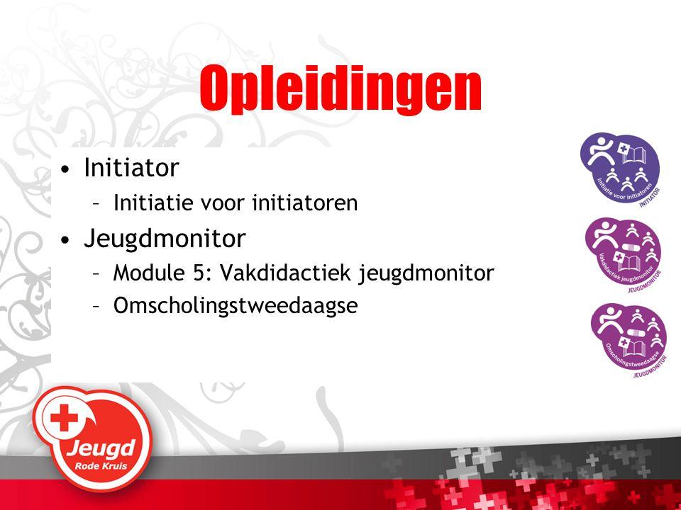 Opleidingen Initiator Jeugdmonitor Initiatie voor initiatoren