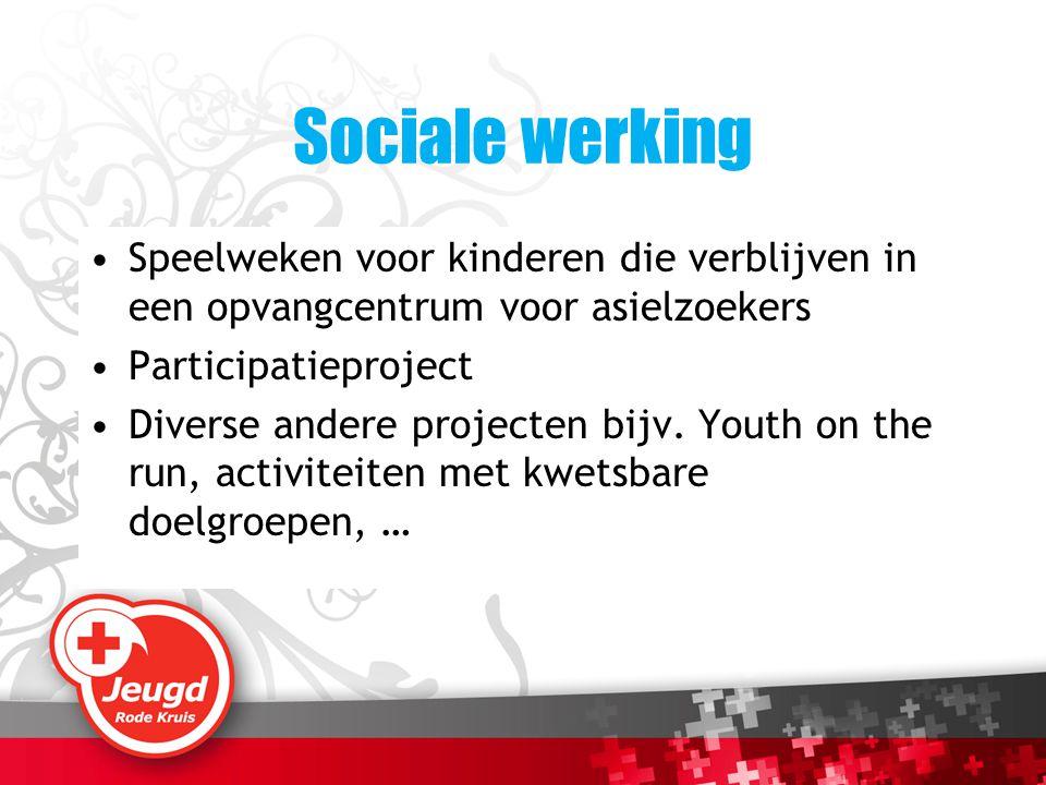 Sociale werking Speelweken voor kinderen die verblijven in een opvangcentrum voor asielzoekers. Participatieproject.