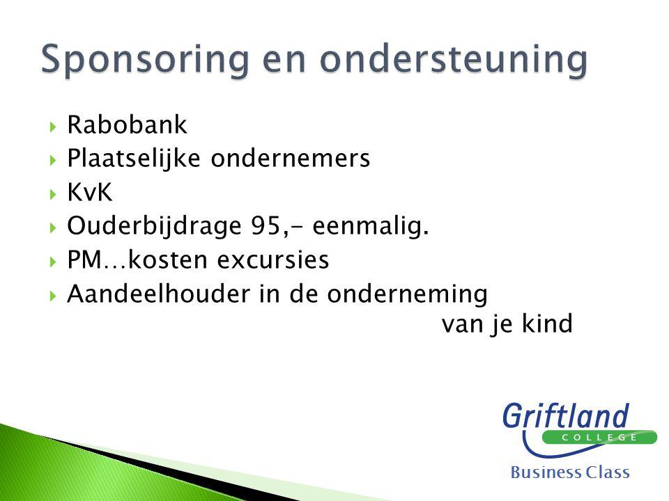 Sponsoring en ondersteuning