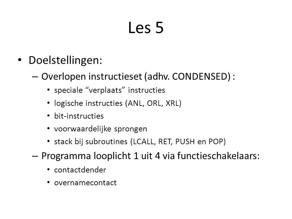 Les 5 Doelstellingen: Overlopen instructieset (adhv. CONDENSED) :