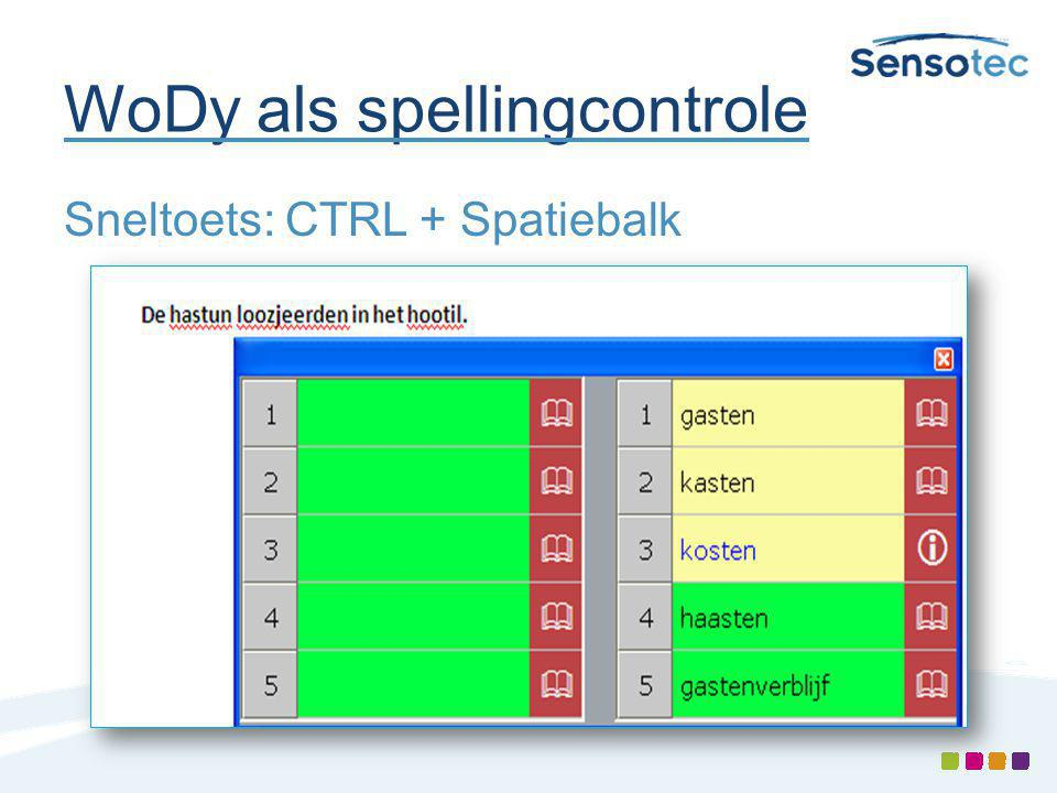 WoDy als spellingcontrole