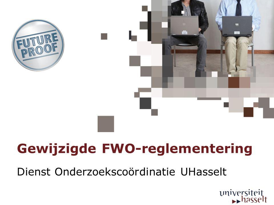 Gewijzigde FWO-reglementering