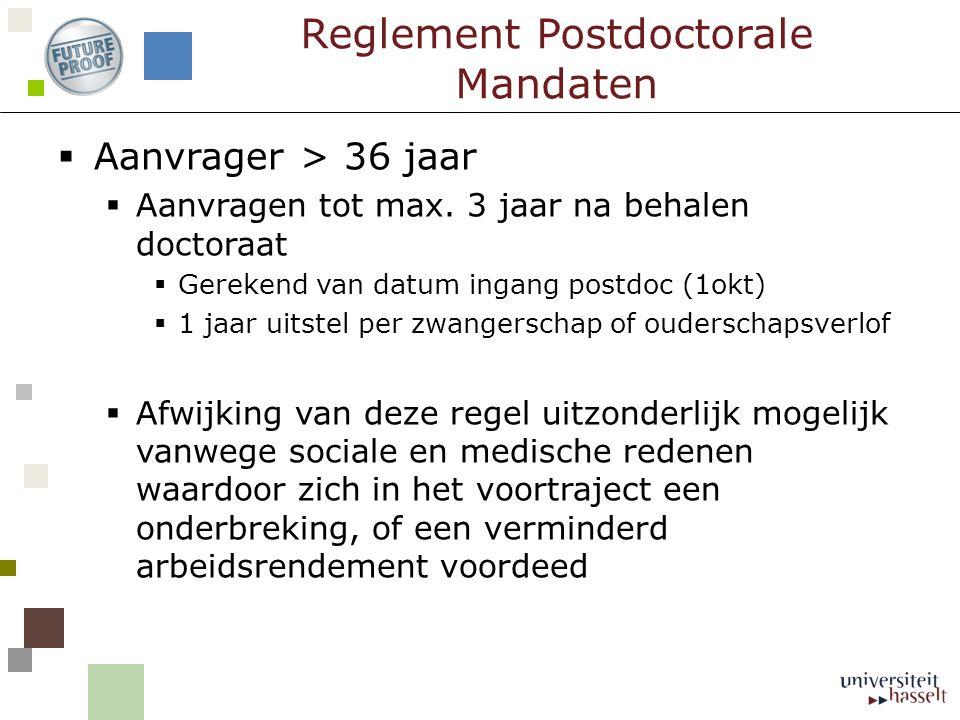 Reglement Postdoctorale Mandaten