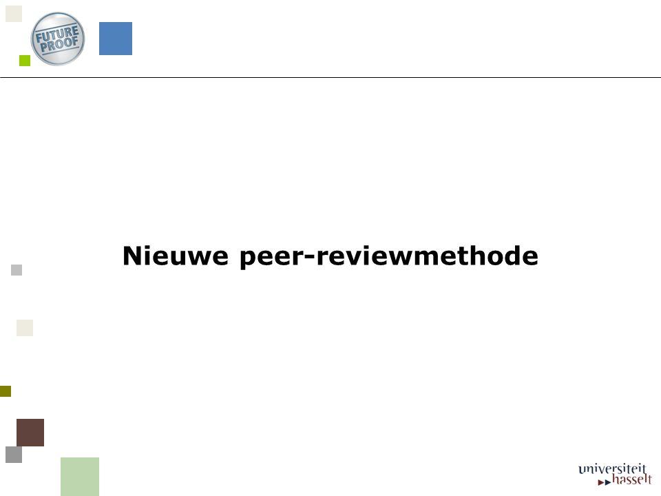 Nieuwe peer-reviewmethode