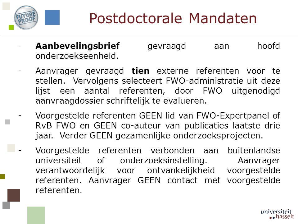 Postdoctorale Mandaten