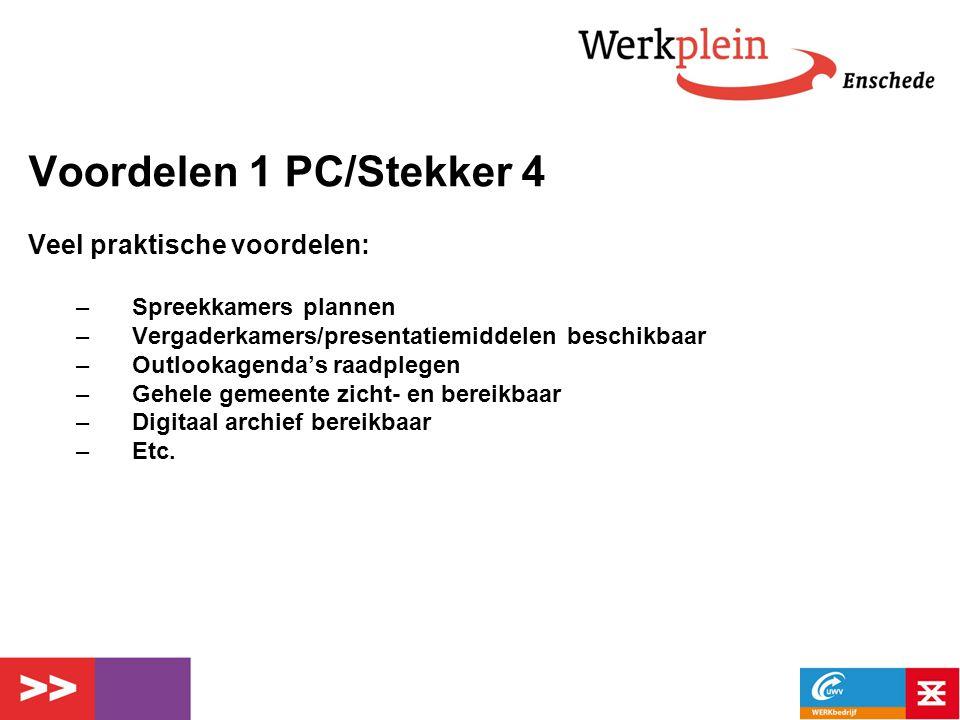Voordelen 1 PC/Stekker 4 Veel praktische voordelen: