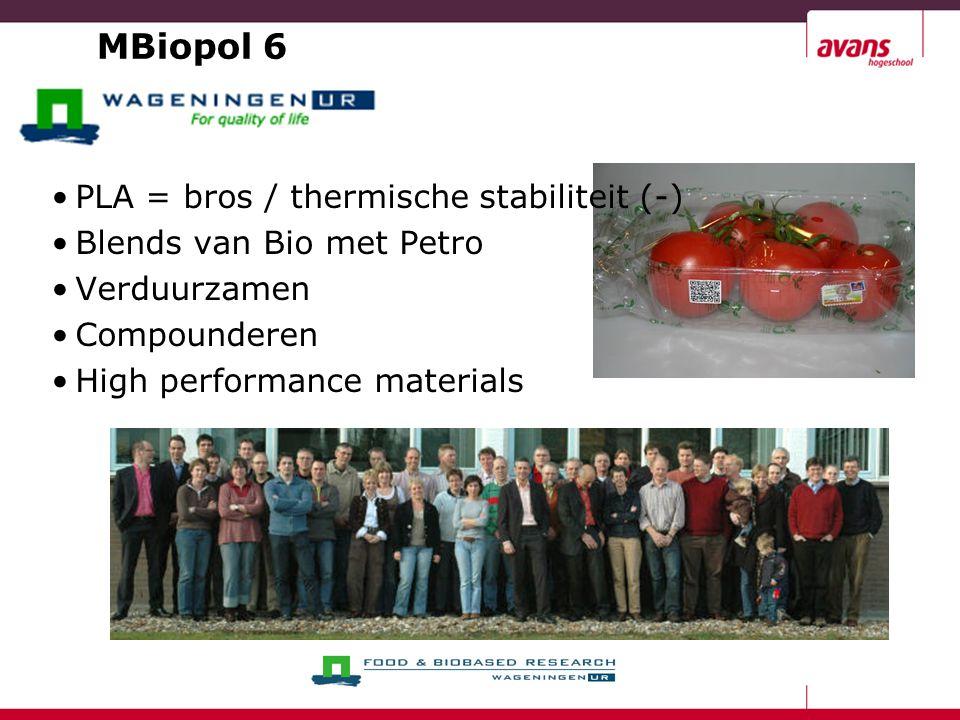 MBiopol 6 PLA = bros / thermische stabiliteit (-)