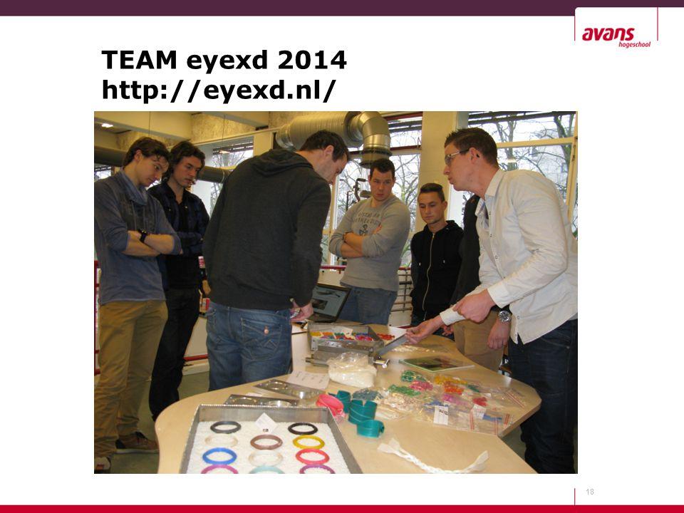 TEAM eyexd 2014 http://eyexd.nl/