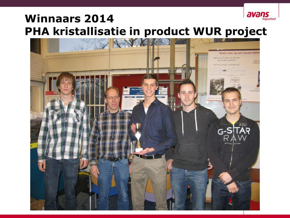 Winnaars 2014 PHA kristallisatie in product WUR project
