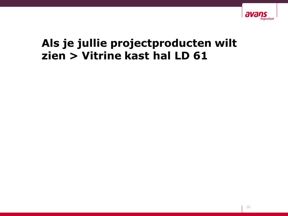 Als je jullie projectproducten wilt zien > Vitrine kast hal LD 61