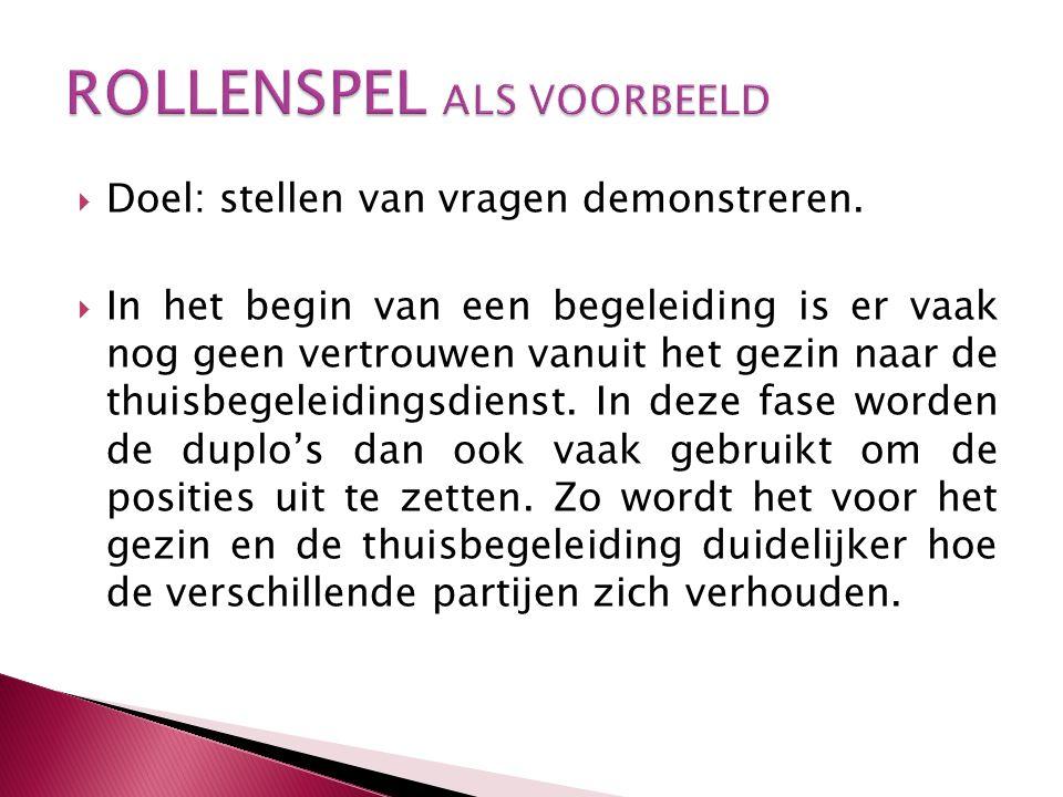 ROLLENSPEL ALS VOORBEELD