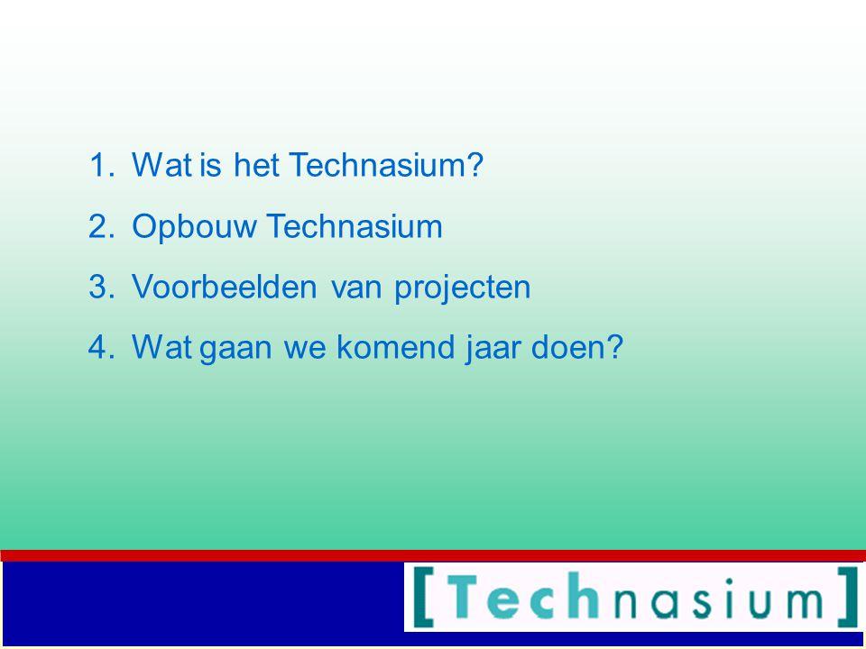 Wat is het Technasium Opbouw Technasium Voorbeelden van projecten Wat gaan we komend jaar doen