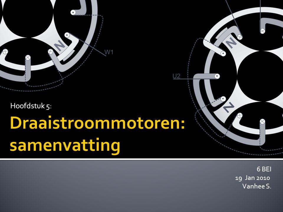 Draaistroommotoren: samenvatting