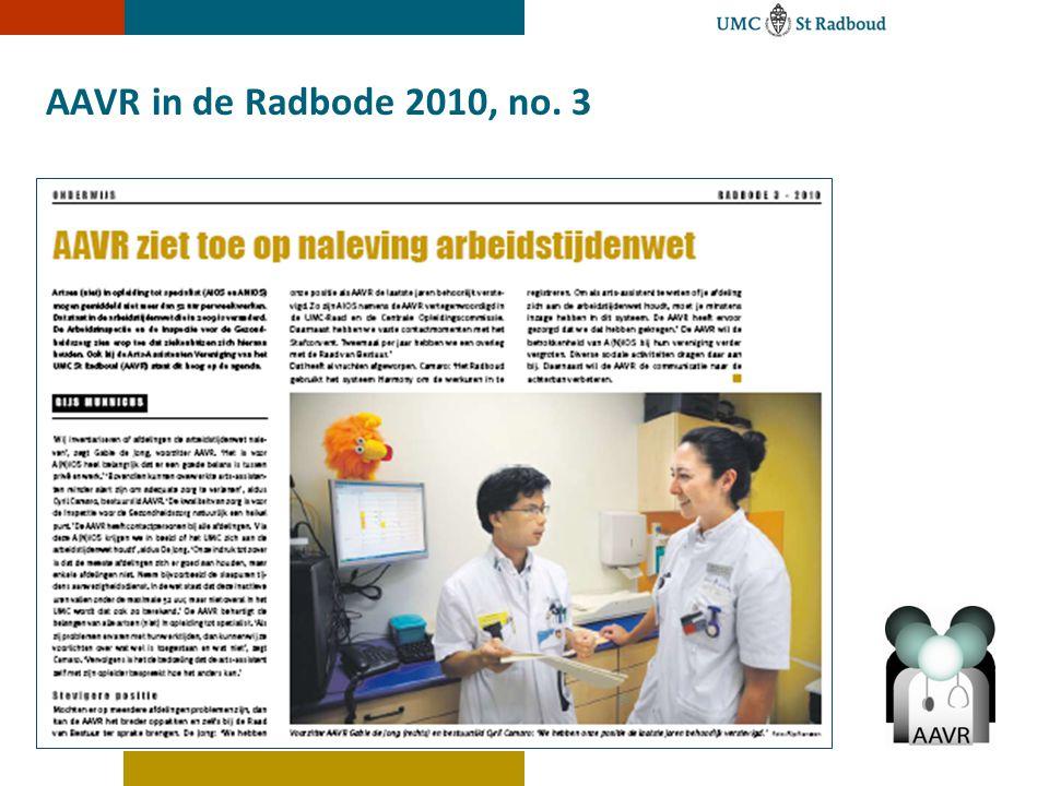AAVR in de Radbode 2010, no. 3 Joyce de Bruin