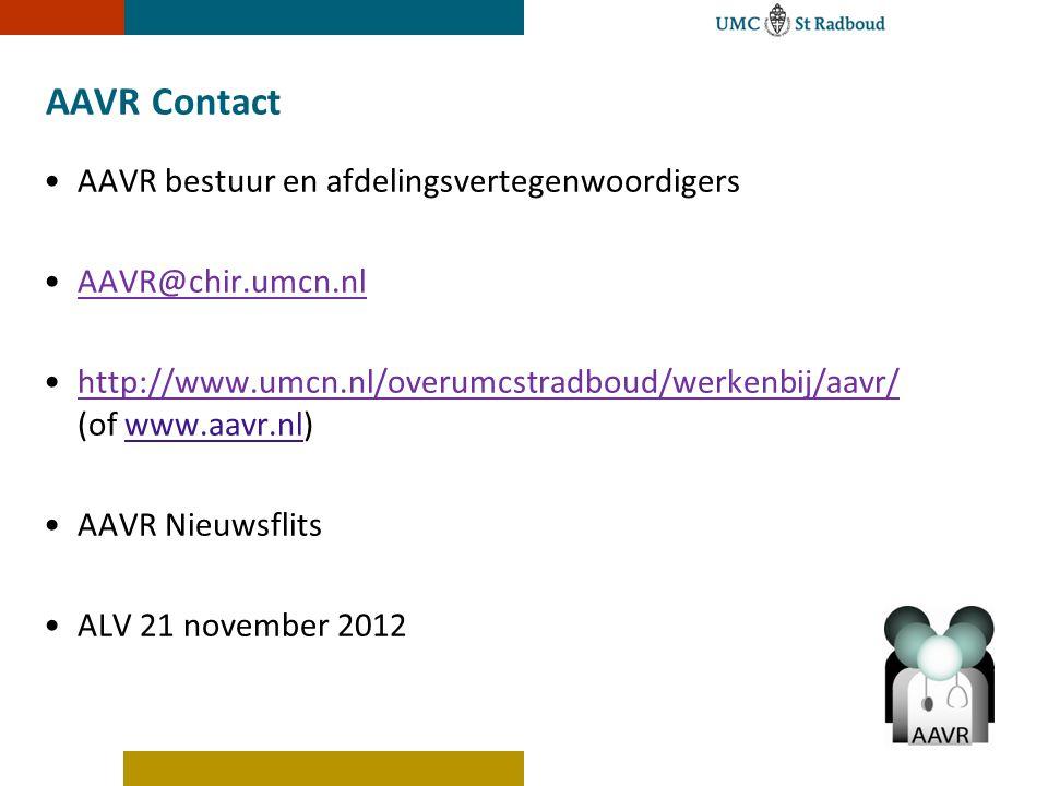 AAVR Contact AAVR bestuur en afdelingsvertegenwoordigers