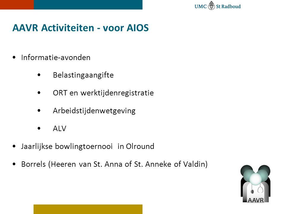 AAVR Activiteiten - voor AIOS