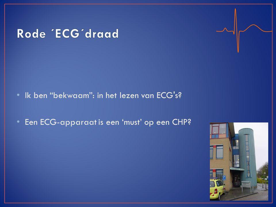 Rode ´ECG´draad Ik ben bekwaam : in het lezen van ECG s