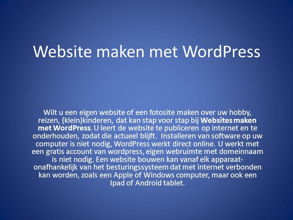 Website maken met WordPress