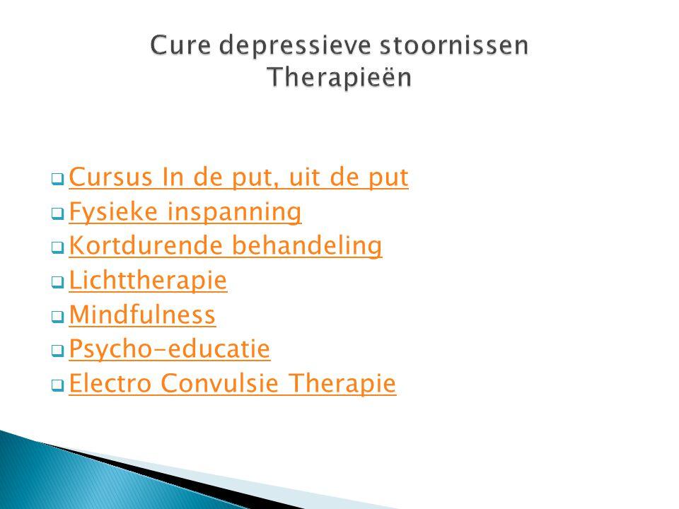 Cure depressieve stoornissen Therapieën
