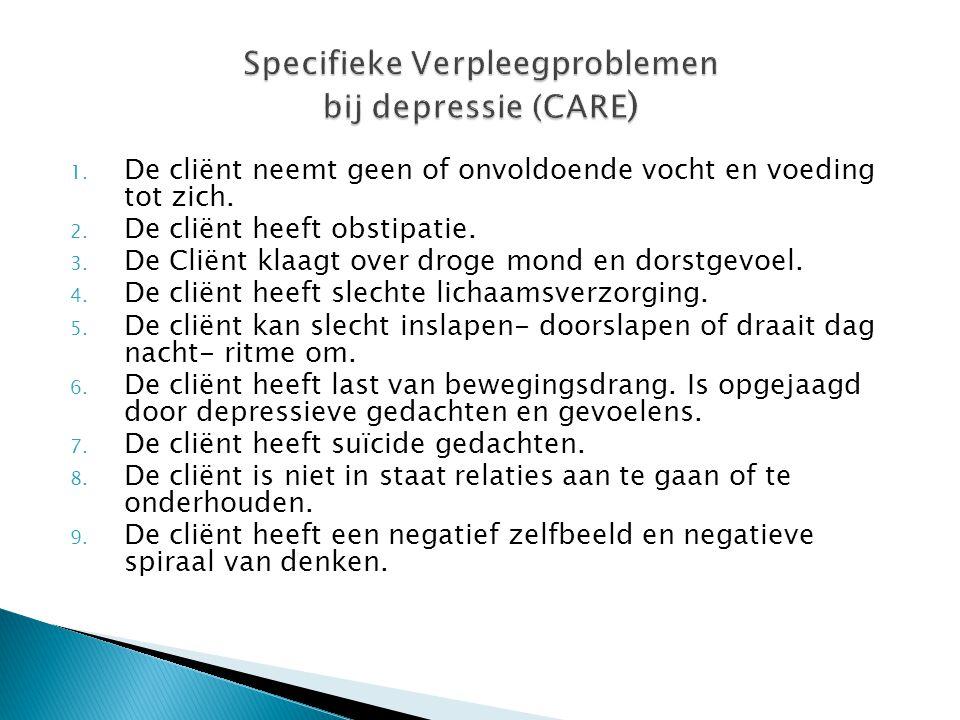 Specifieke Verpleegproblemen bij depressie (CARE)
