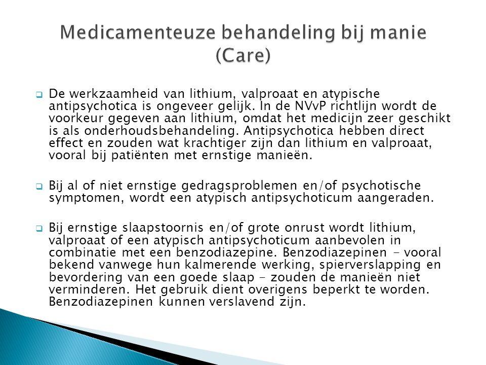 Medicamenteuze behandeling bij manie (Care)