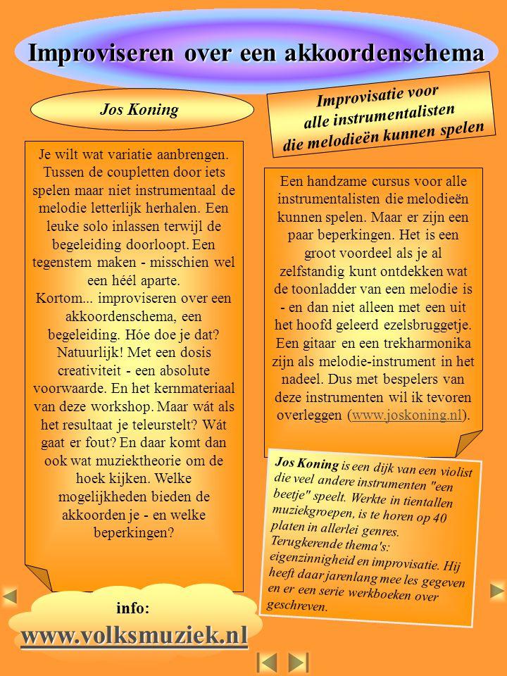 Improviseren over een akkoordenschema www.volksmuziek.nl