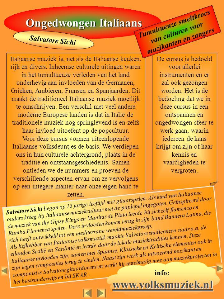 Ongedwongen Italiaans www.volksmuziek.nl