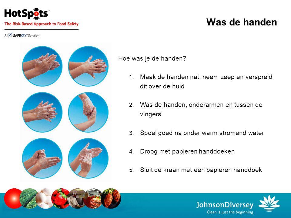 Was de handen Hoe was je de handen