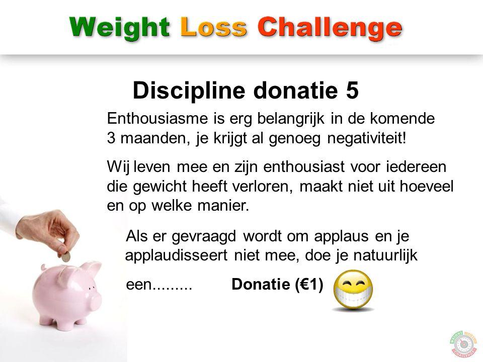 Discipline donatie 5 Enthousiasme is erg belangrijk in de komende 3 maanden, je krijgt al genoeg negativiteit!