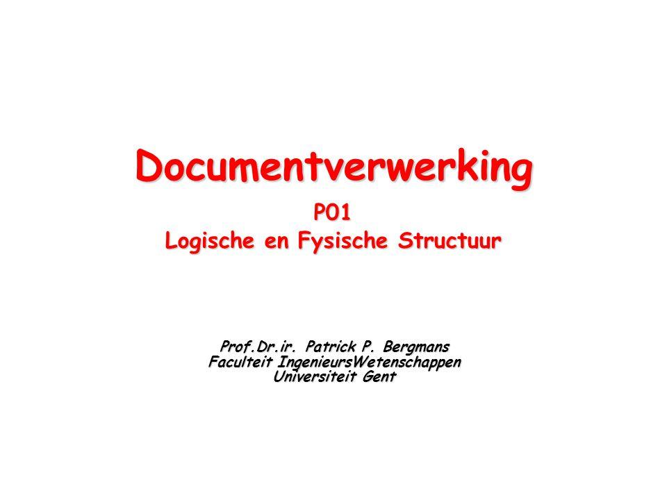 Documentverwerking P01 Logische en Fysische Structuur