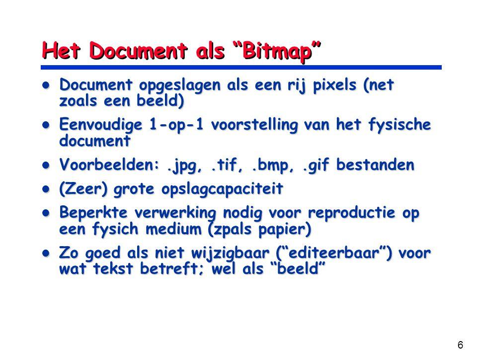 Het Document als Bitmap
