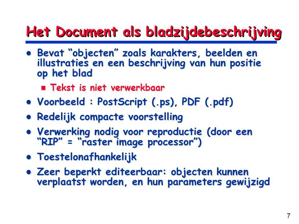 Het Document als bladzijdebeschrijving