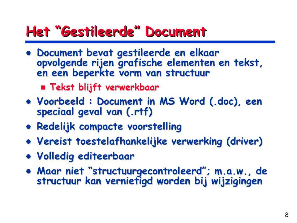 Het Gestileerde Document