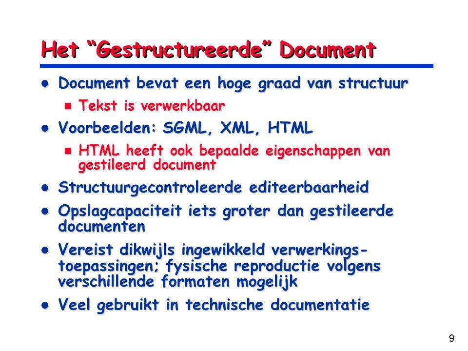 Het Gestructureerde Document