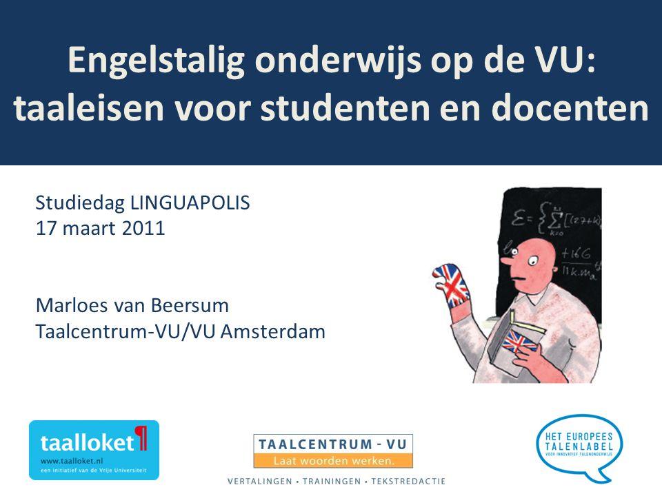 Engelstalig onderwijs op de VU: taaleisen voor studenten en docenten