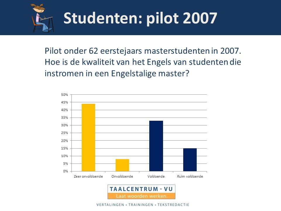 Studenten: pilot 2007