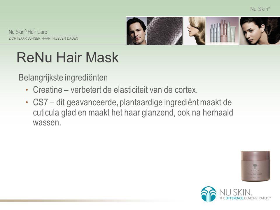 ReNu Hair Mask Belangrijkste ingrediënten