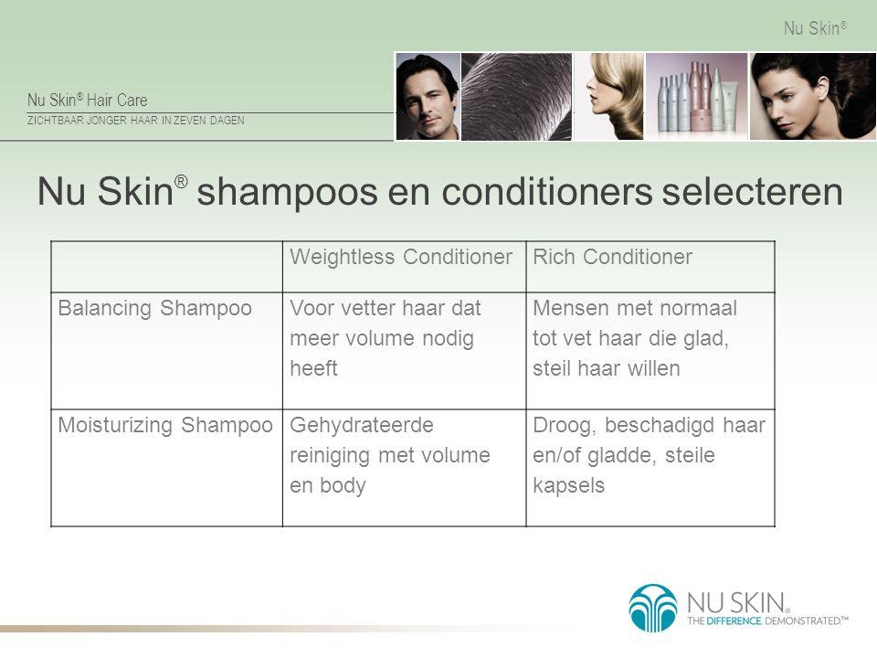 Nu Skin® shampoos en conditioners selecteren