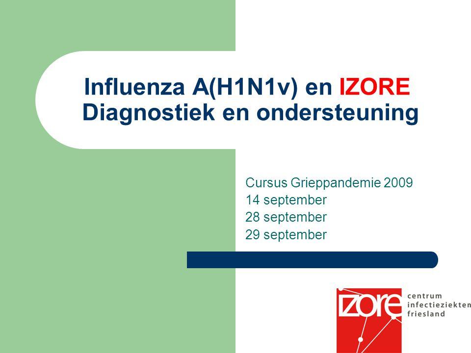 Influenza A(H1N1v) en IZORE Diagnostiek en ondersteuning