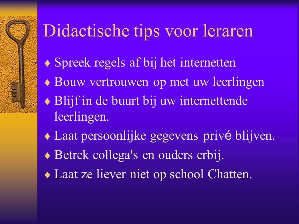 Didactische tips voor leraren